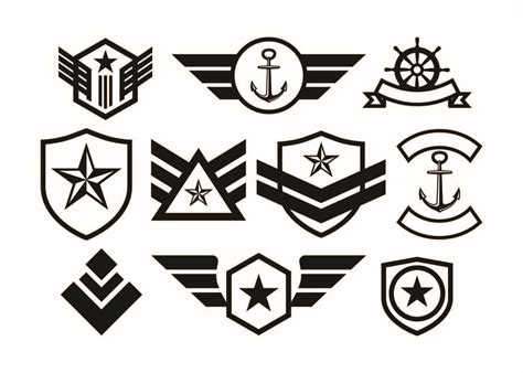 Almost files can be used for commercial. Free Military Badge Collection Vector - Download Free ...