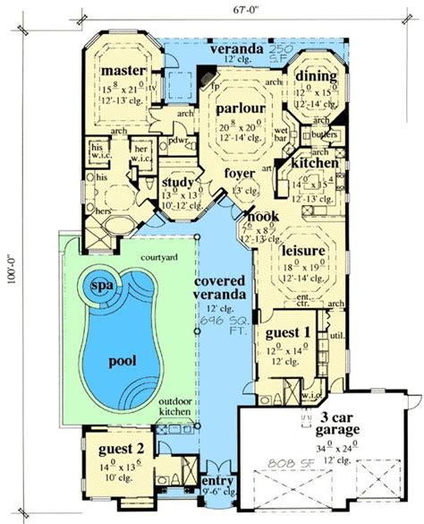 house plans with courtyard pools house plans and design house plans with pool courtyard