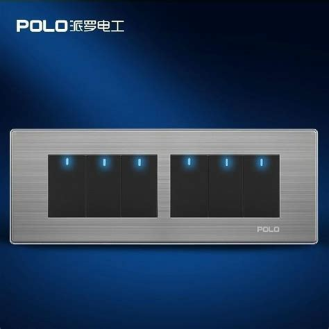polo luxury wall switch panel 197mm 72mm led panel