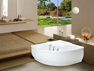 petite baignoire d39angle et solutions pour petits espaces With petite salle de bain avec baignoire d angle