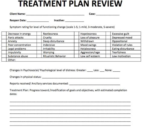 Addiction Treatment Plan Template by Depression Treatment Plan Template Templates Resume