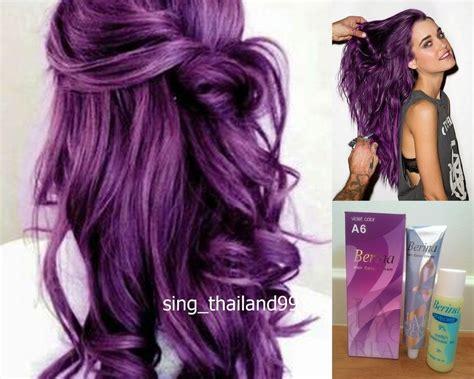 1x Berina A6 Violet Purple Color Hair Cream Color