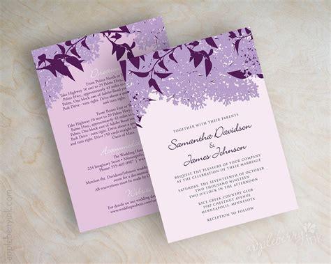 Purple And Lilac Wedding Invitations