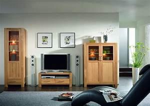 Highboard Tv : wohnwand wohnzimmerwand highboard vitrine tv board eiche ~ Pilothousefishingboats.com Haus und Dekorationen