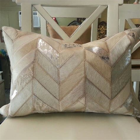 Cowhide Rugs Houston Tx by Chevron White Silver Metallic Cowhide Pillow Available In
