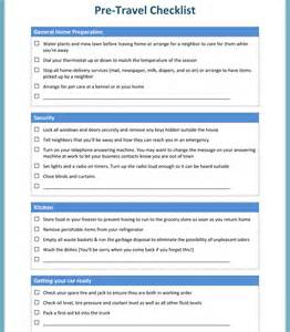 Free Travel Checklist Template
