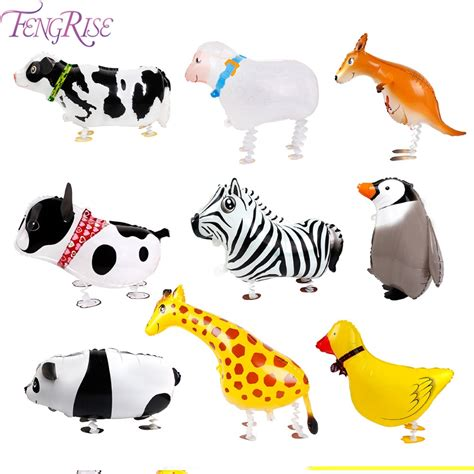 fengrise walking animals balloons animal balon helium