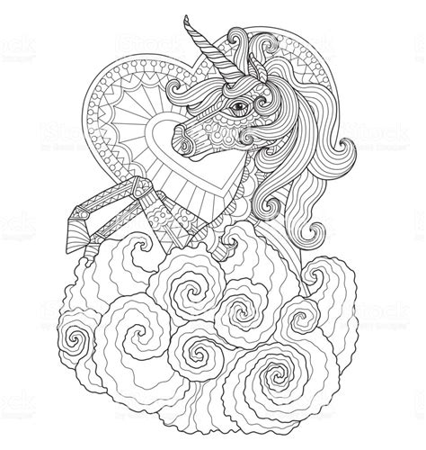 Volwassen Kleurplaat Wolf by Unicorn With For Coloring Page