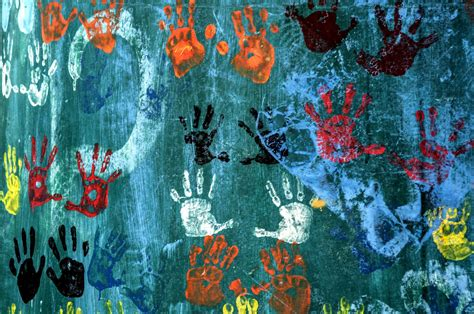 Texture Walls Handprints Wallpapers Hd Desktop And