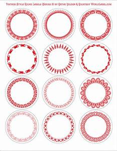 vintage style round labels by cathe holden series 2 With blank round stickers for printing