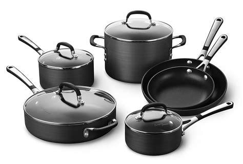 Calphalon Kitchen Essentials Non Stick Cookware by Simply Calphalon Nonstick 10 Set Review Anodized