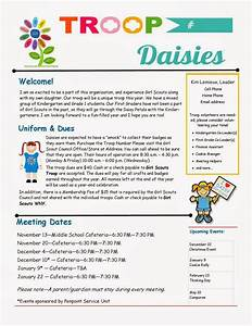 daisy troop parent newsletter template girl scouts With girl scout calendar template
