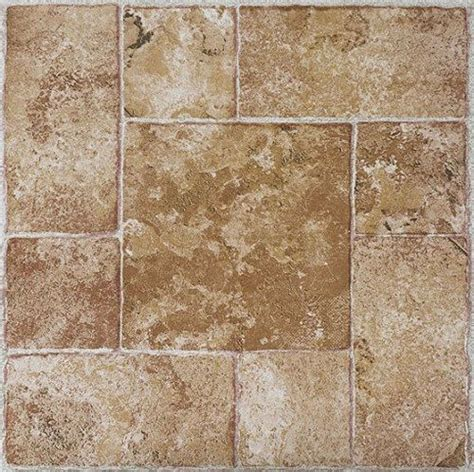 Beige Terracotta Stone  Stick Adhesive Vinyl Floor