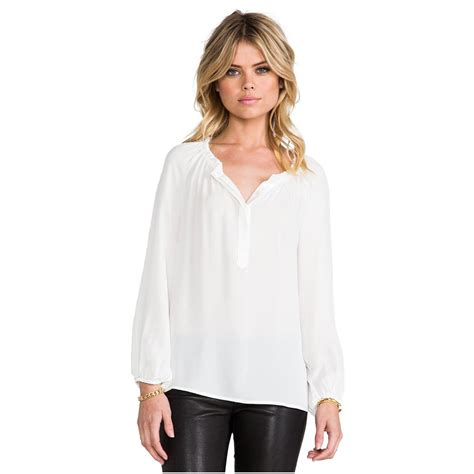 the blouse joie lilou matte silk blouse for nanagala