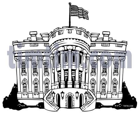 white house clipart washington dc pencil   color
