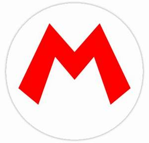 """Mario M"" Stickers by SirRockalot Redbubble"