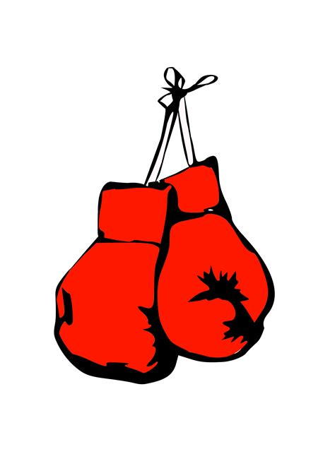 clipart burning boxing gloves clipart  clipart