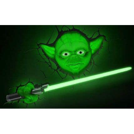 star wars 3d deco led wall light yoda forbidden planet