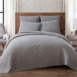 Buy brooklyn loom lincoln full queen mini quilt in grey for Brooklyn loom bedding