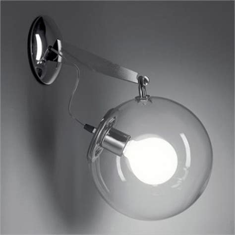 artemide miconos wall light with glass diffuser
