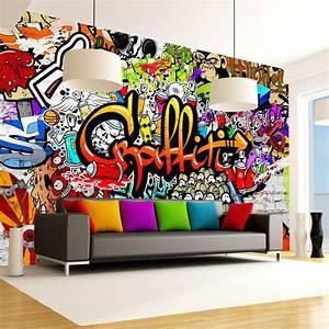 Graffiti Für Kinderzimmer : coole fototapeten f r jugendzimmer modern erschwinglich home decor moderne wohnaccessoires ~ Sanjose-hotels-ca.com Haus und Dekorationen
