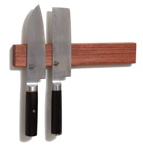 Knives Holder by Bubinga Wood Magnetic Knife Holder 12 Inch Knife And
