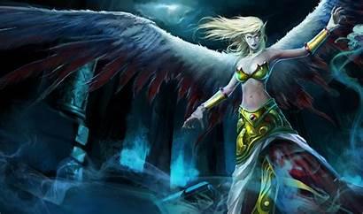 Morgana League Legends Fallen Angel Angels Splash
