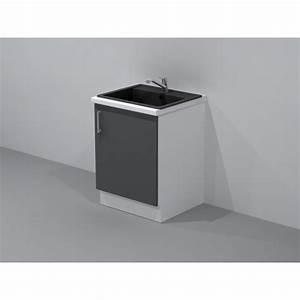 meuble sous evier de cuisine largeur 60cm With meuble evier 1 bac