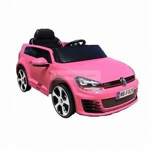 Voiture Electrique Pour 14 Ans : golf gti voiture lectrique pour enfant 12 volts rose golf rose ~ Melissatoandfro.com Idées de Décoration