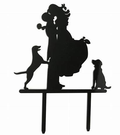 Cake Groom Silhouette Bride Topper Stand Funny