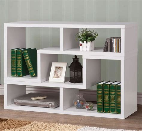 Modern Furniture Bookcase by White Modern Stackable Reversible Bookcase In 2019
