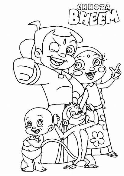 Bheem Chota Coloring Pages Mission Complete Netart