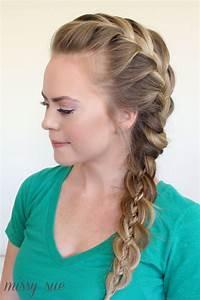 side french braid four strand braid | Hair Tutorials ...