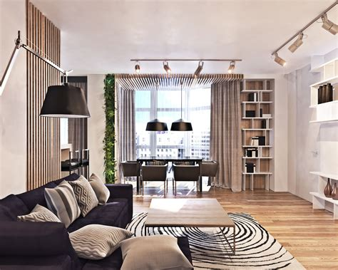 curtains modern living room eclectic interior design style