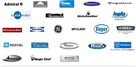 Logos Appliancee Manufacturer Brands Appliance America Can
