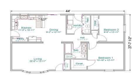 Ranch -style House Small Ranch House Floor Plans, Floor