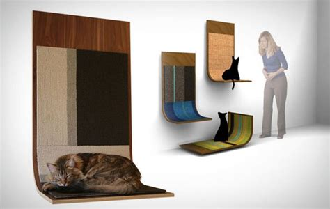 Modern Stylish Cat Furniture And Cat Stuff by Modern Style Cat Scratcher Available In Various Colors