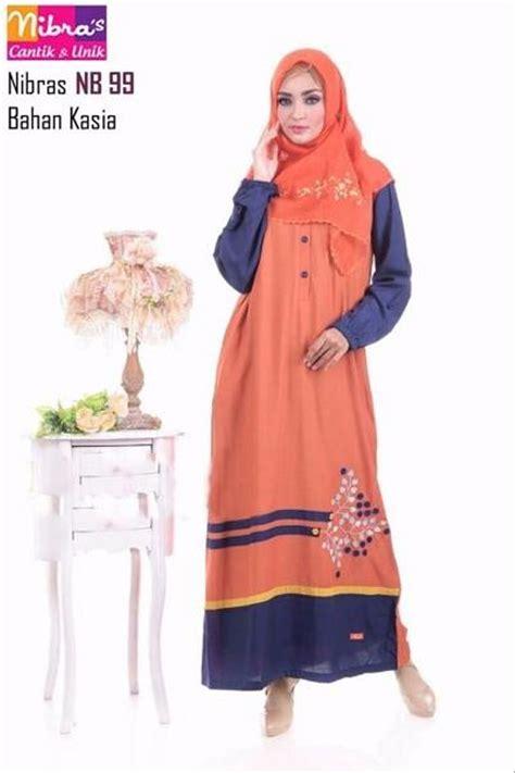 Harga Gamis Merek Nibras jual grosir gamis trendy murah nibras nb 99 oranye