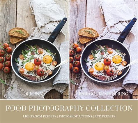 food lightroom presets photoshop actions  acr presets