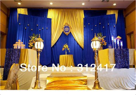 blue and yellow wedding table decorations royal blue