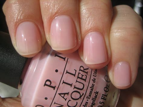 opi light pink in the spot light pink swatch by opi manis make me happy