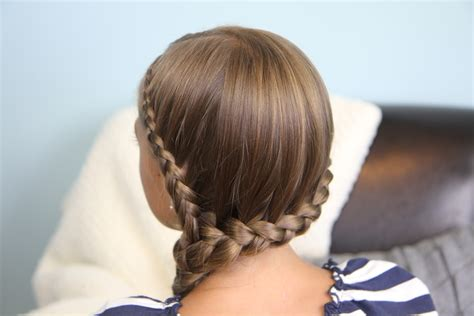 Double Lace Into Side Braid
