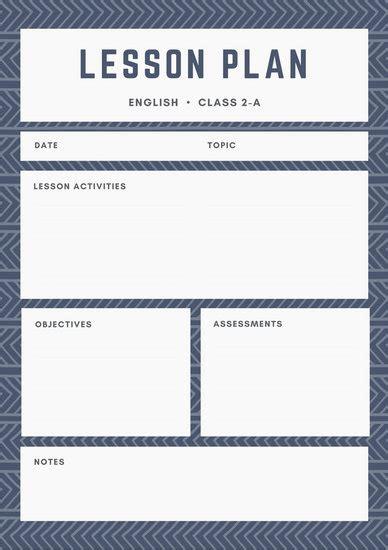 Design Lesson Plans by Customize 1 304 Lesson Plan Templates Canva