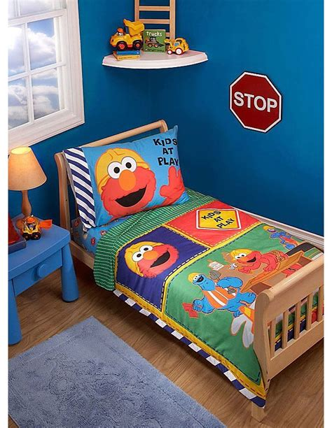 elmo crib bedding construction theme bedroom ideas