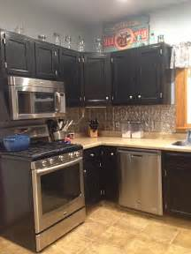 grey stained cabinets for oak kitchen cabinets in black gel stain general finishes