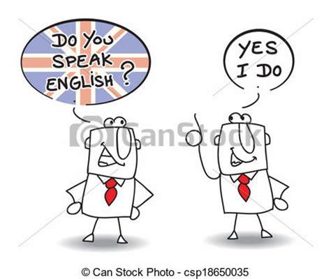 vectors    speak english  men  speaking