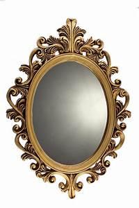 Moldura Provençal De Resina Com Espelho Dourado