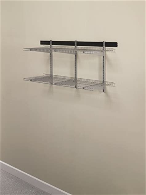Garage Shelving Track by Rubbermaid Fg5e21ftsnckl Fast Track Garage Organization