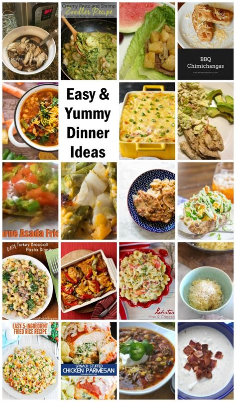 simple tasty dinner recipes easy and yummy dinner ideas mmm 420 block party keeping it simple crafts