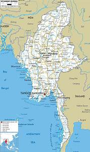Detailed Clear Large Road Map Of Myanmar